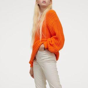 H&M Chunky Knit Orange Sweater